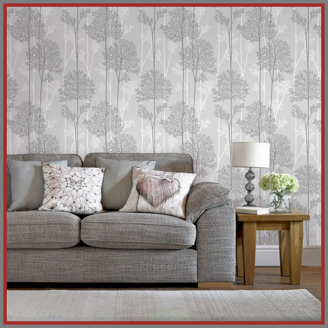 56 Reference Of Living Room Wallpaper Decor Ideas In