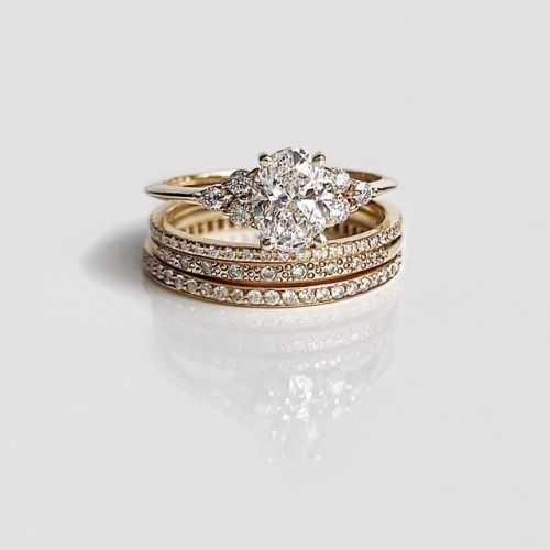 b1db767ee Vale Jewelry Juno with White Diamond, Clair, Moss and Stardust Rings ...