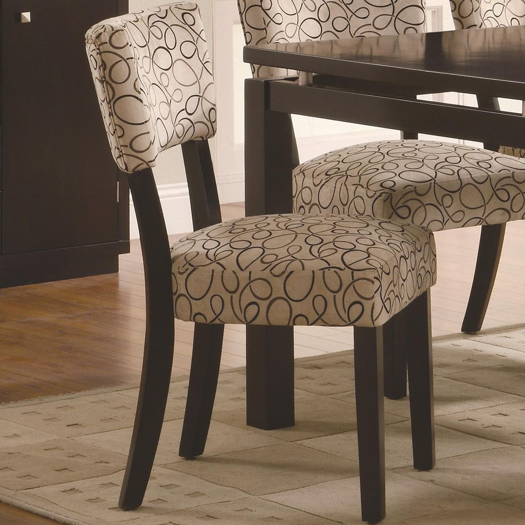 Captivating Upholstered dining chairs set of 4 | dining table ...