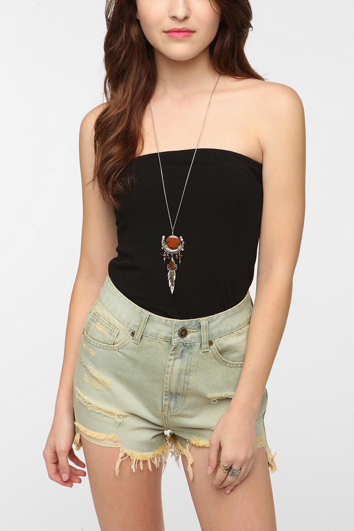 Truly Madly Deeply Fitted Strapless Top  #UrbanOutfitters