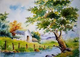 Paisajes Watercolor Landscape Paintings Watercolor Scenery Landscape Drawings