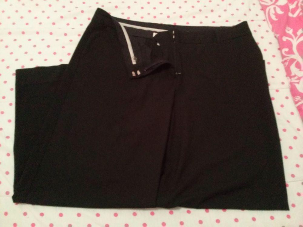 Isaac Mizrahi Womens Black Dress Pants Size 14s For Target Wide Leg
