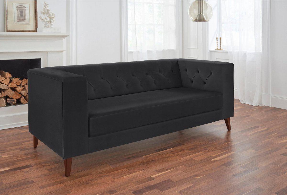2 Sitzer Evelin Mit Knopfheftung Ecksofas 3 Sitzer Sofa Und Wohnen