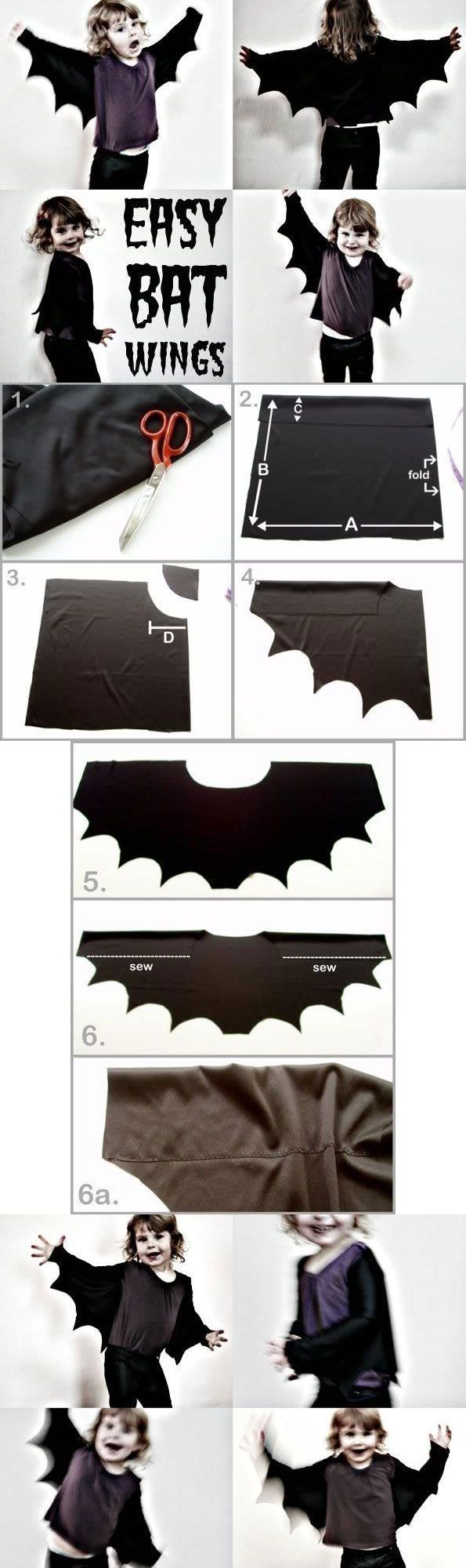 How to easy bat wings for halloween or dress ups bat wings bats make bat wings the easy way only minimal sewing required mypoppet solutioingenieria Image collections