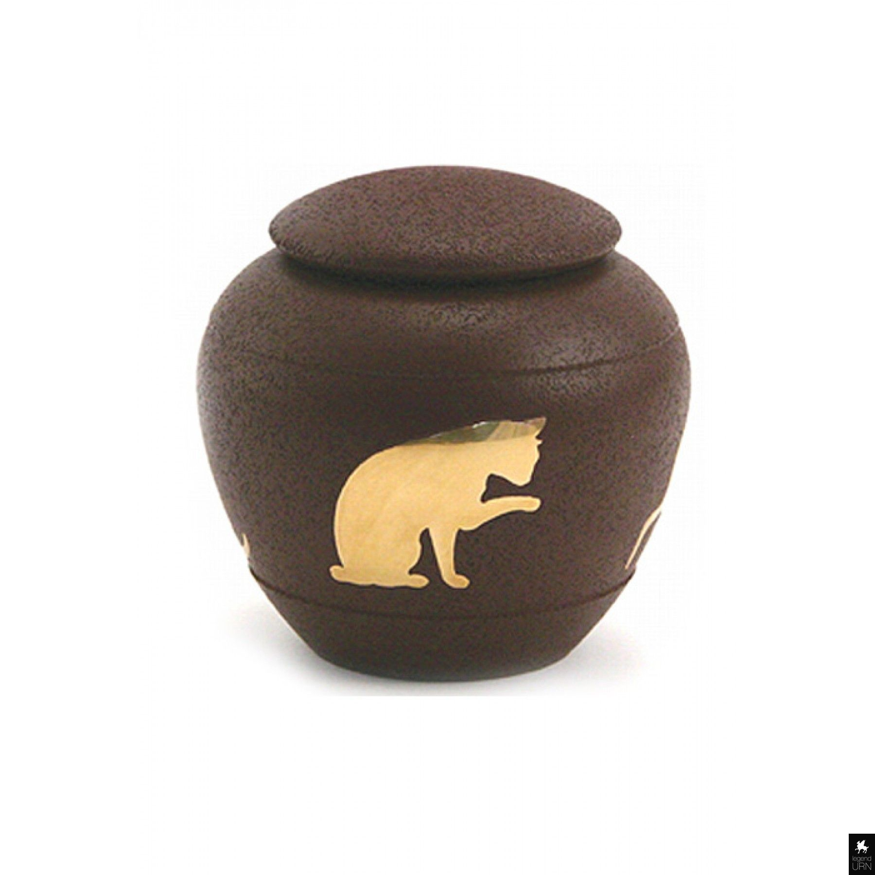 Cat cremation urn 'Silhouette' Country Blue Huisdier