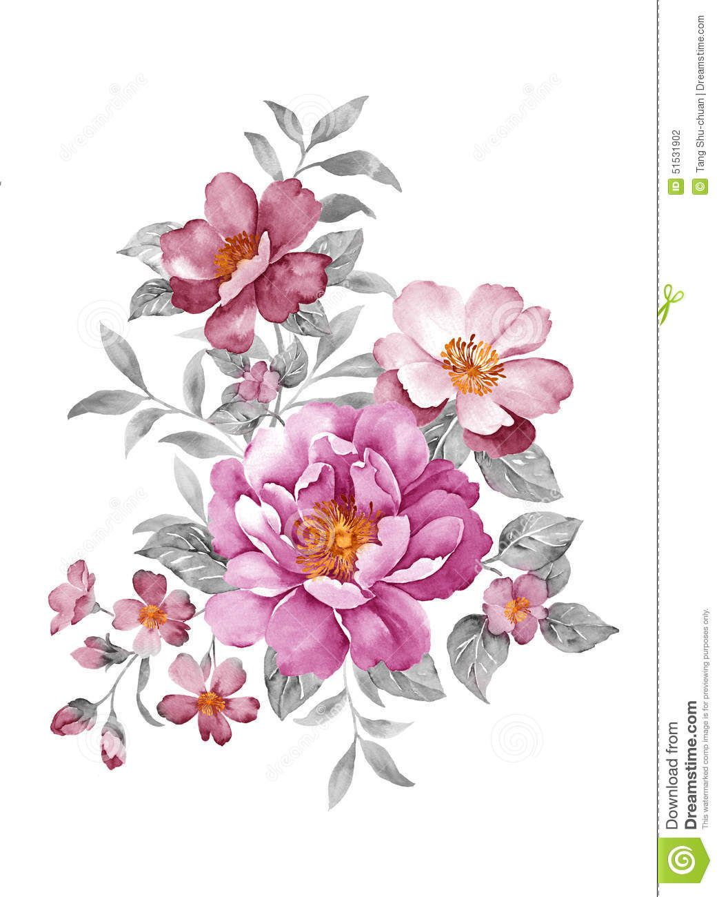 Watercolor illustration download from over 46 million - High resolution watercolor flowers ...