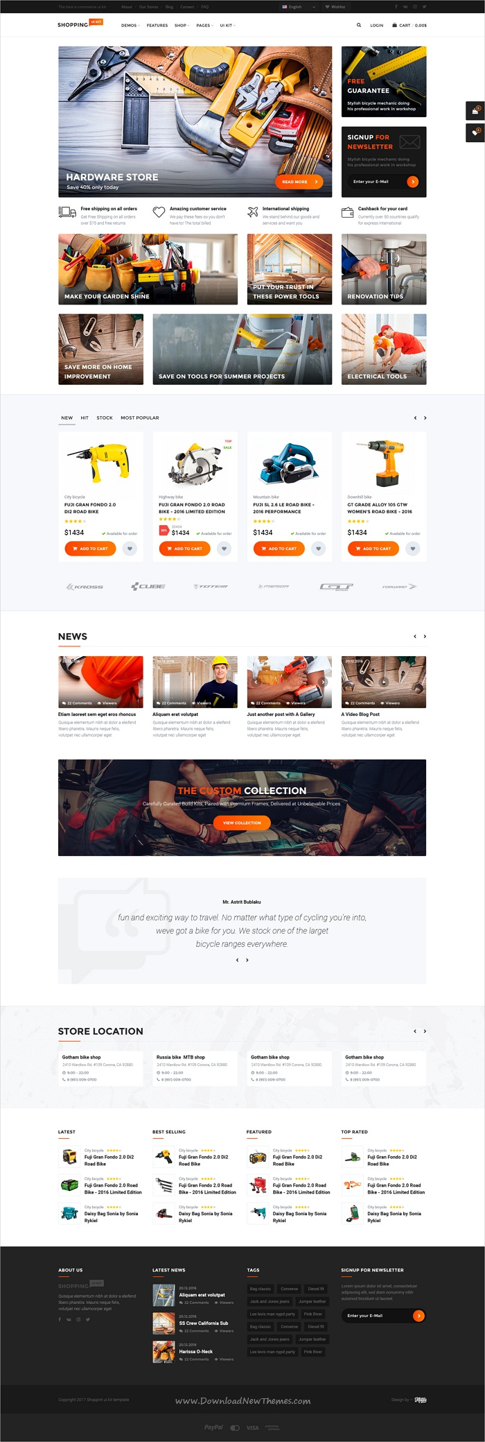 Shopping – multipurpose responsive e-commerce PSD template ...
