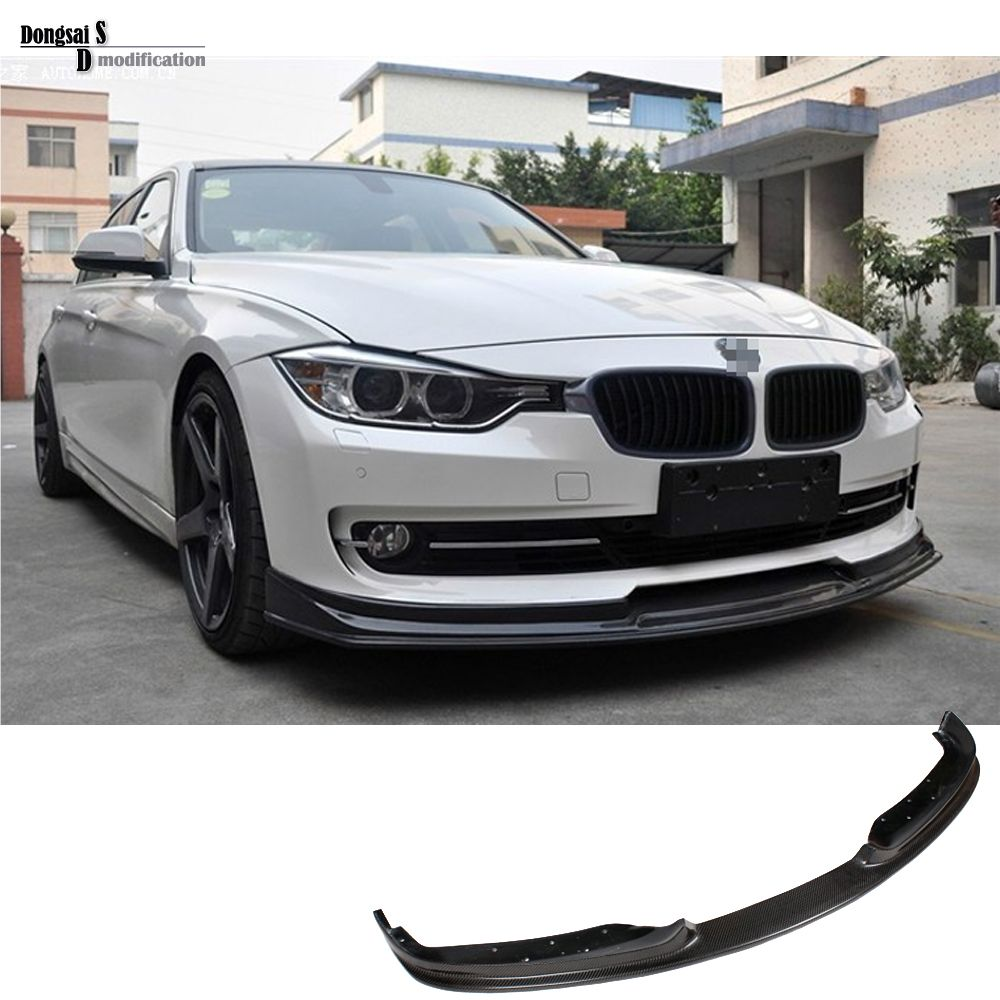 3 series ac schnitzer look carbon fiber front skirt lip for bmw 2012 2015 car stlying