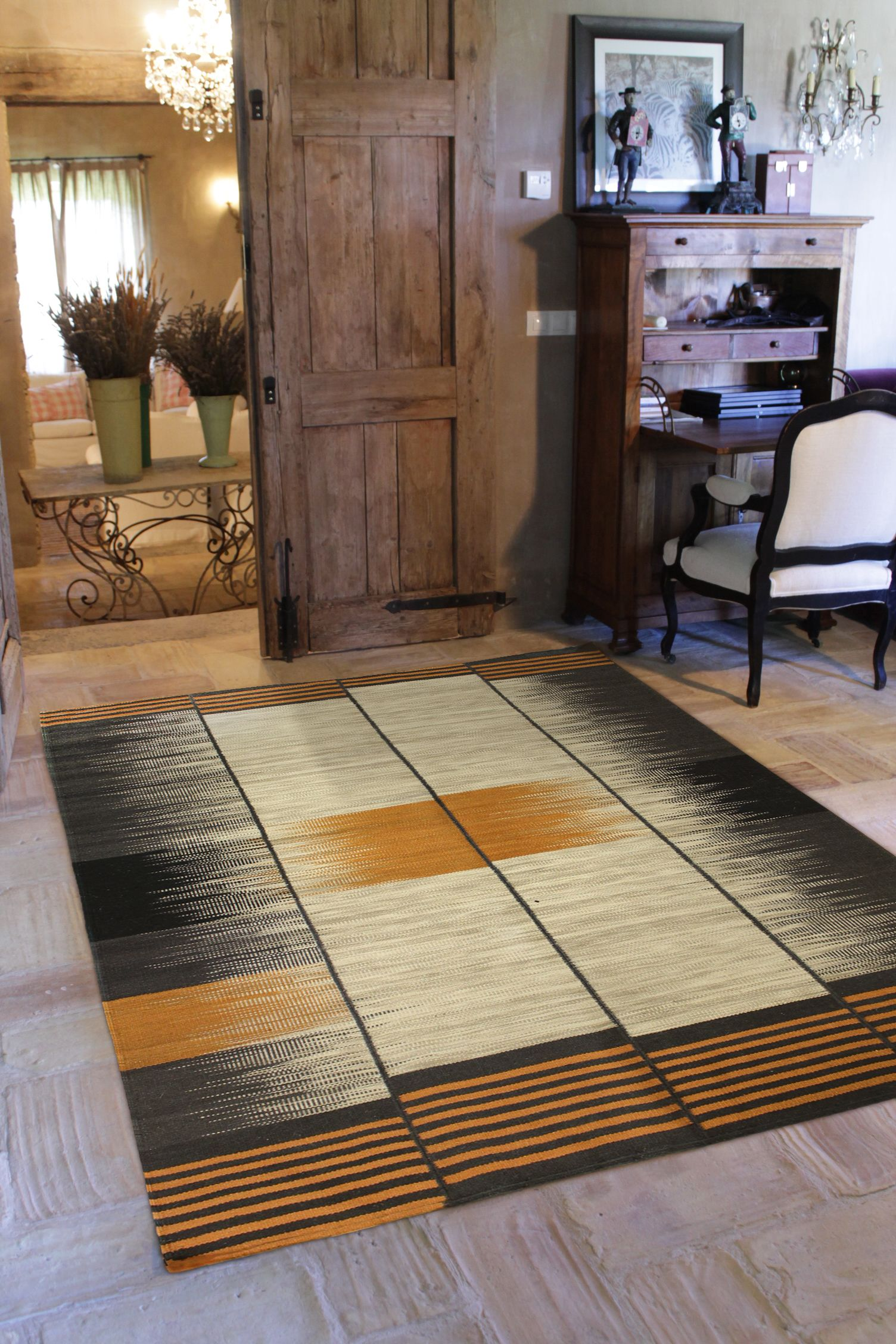 Dac Rugs Atelier Kilim Twisted Black Rust Is The Perfect