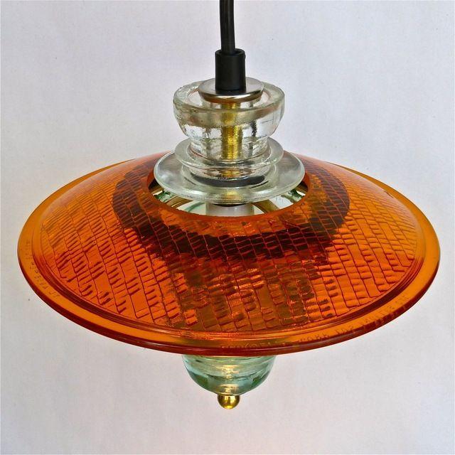 Suspended Insulator Light Pendant 8 Traffic Light Lens Pendant Industrial Pendant Lighting Insulator Lights Unusual Lighting Industrial Floor Lamps