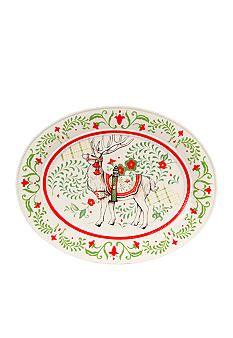 Fitz and Floyd Winter White Holiday Platter - Belk.com