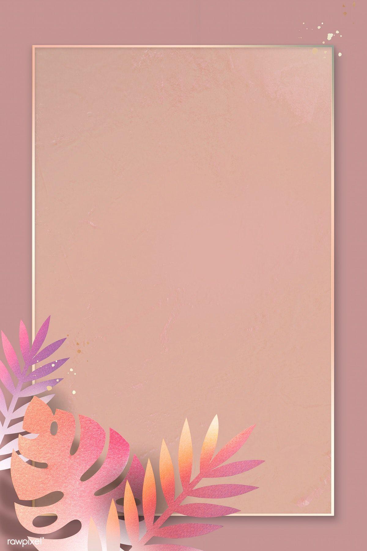Download premium illustration of Blank leafy rectangle