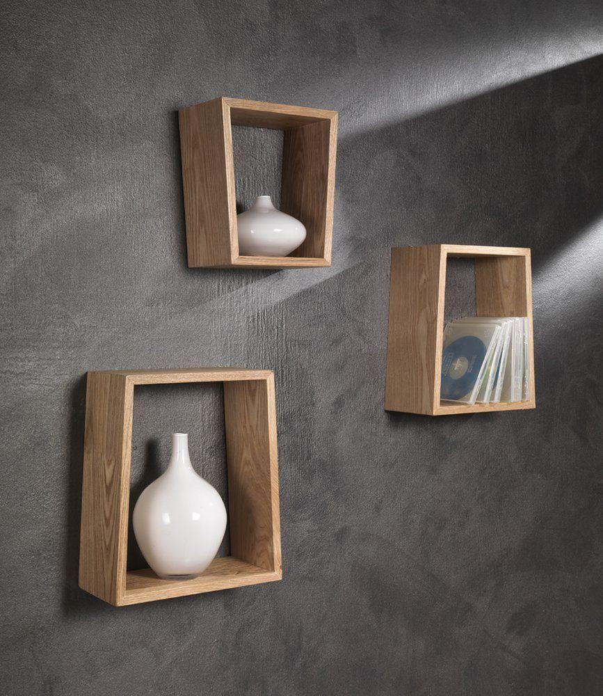Tomasucci trapezio set 3 mensole in legno casa for Arredamento amazon