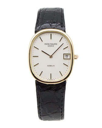 Classic Ladies\' Patek Philippe Ellipse Watch by NM Watch Collection by Crown & Caliber at Neiman Marcus.