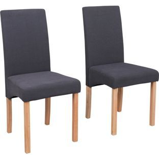 schreiber chalbury pair of upholstered dining chairs | dining room