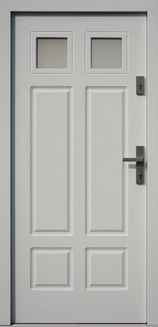 Classic wooden exterior door model 533,6B white