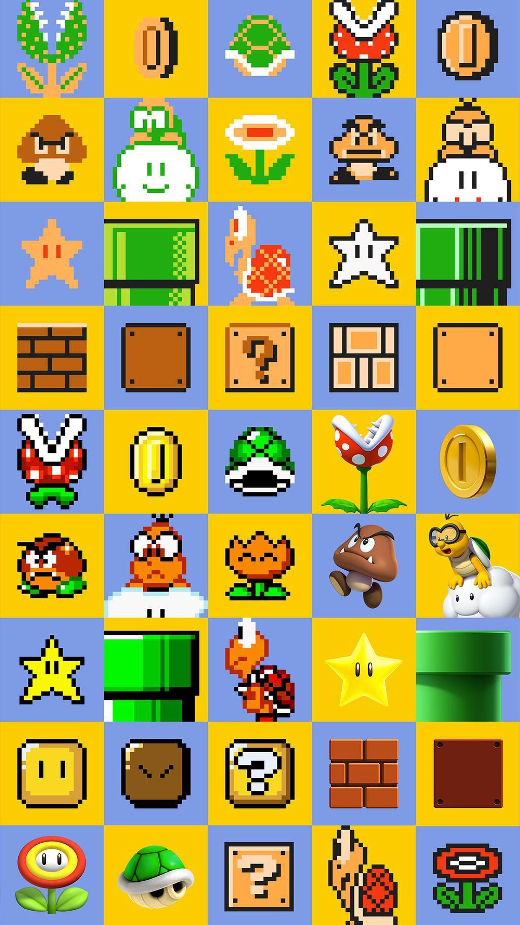 Super Mario Maker Wii U 2015 Com Imagens Papeis De Parede