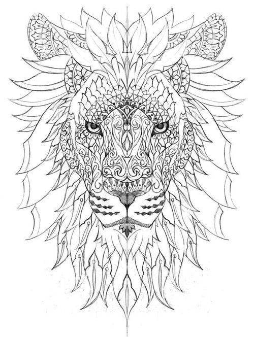 Pin By Krishna Priya On Zentang Pinterest Coloriage Dessin And - Lion-mandala-coloring-pages