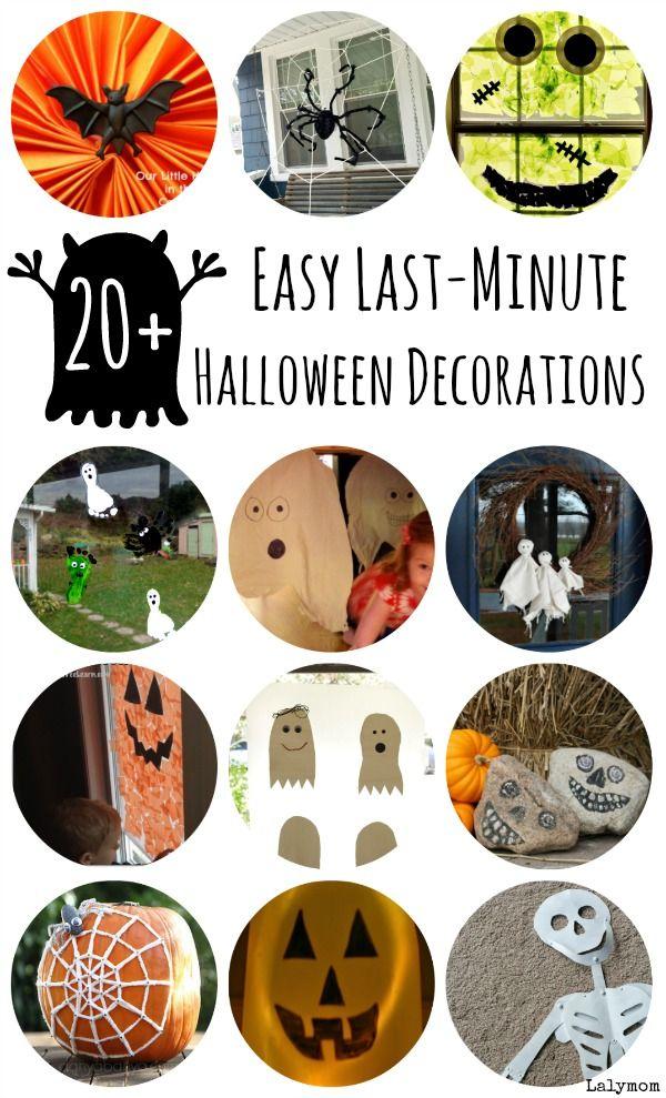 20 easy diy halloween decorations