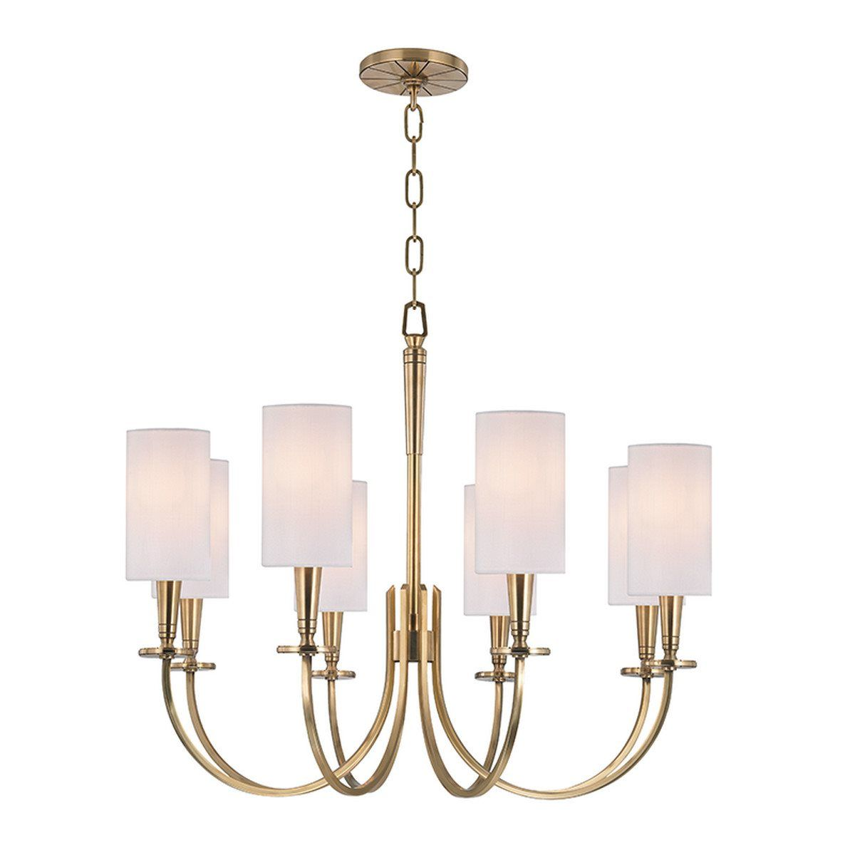South Shore Decorating: Hudson Valley Lighting 8028-AGB Mason Transitional Chandelier HV-8028-AGB