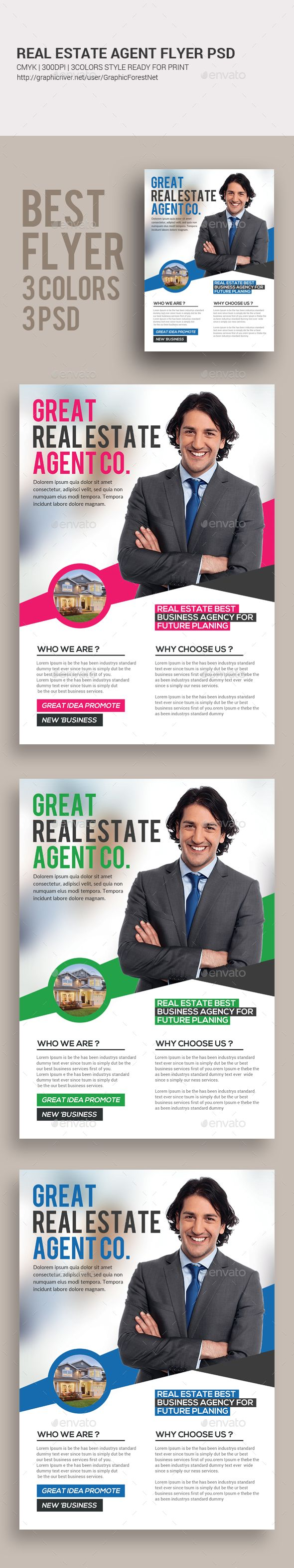 real estate agent flyer corporate flyers flyer templates