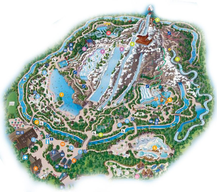 map of blizzard beach orlando Blizzard Beach Map Blizzard Beach Disney Water Parks Florida map of blizzard beach orlando
