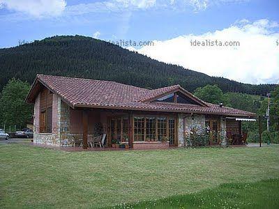 Fachada de casas de Campo Interior De La Casa Diseño casas
