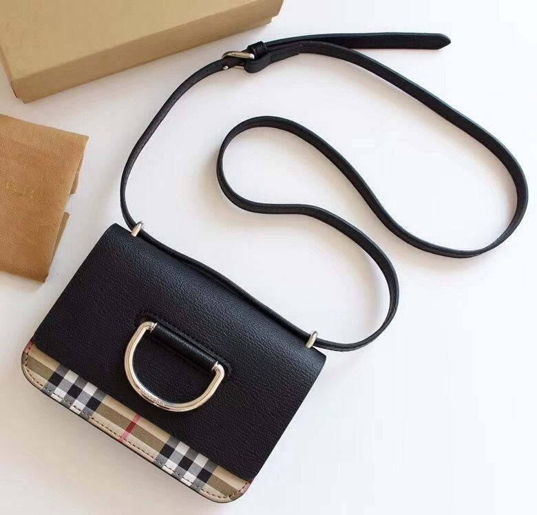 7c113e0a84a3 Burberry Mini Leather and Vintage Check D-ring Bag 2018