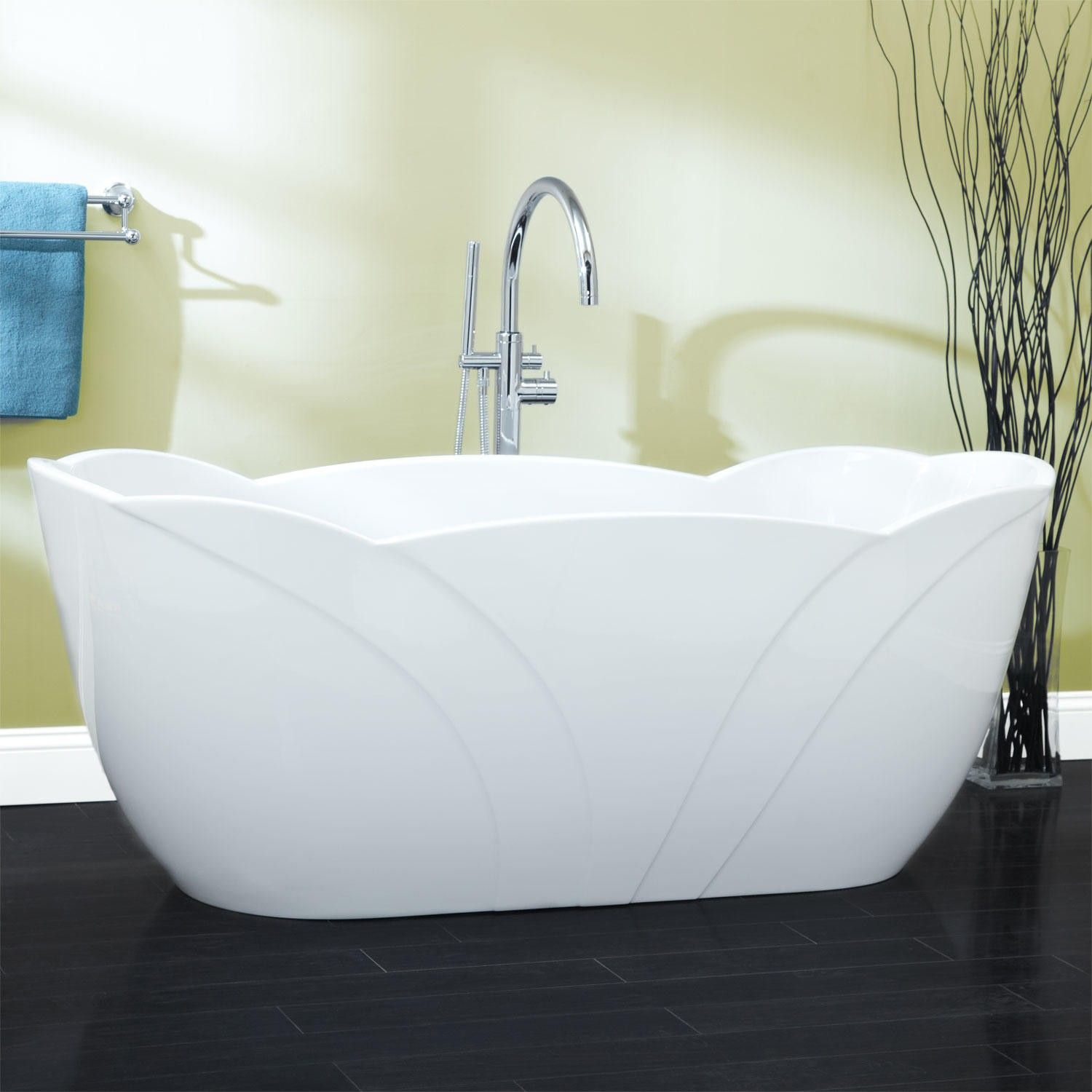 68 Leola Acrylic Freestanding Tub  Bathtubs  Bathroom