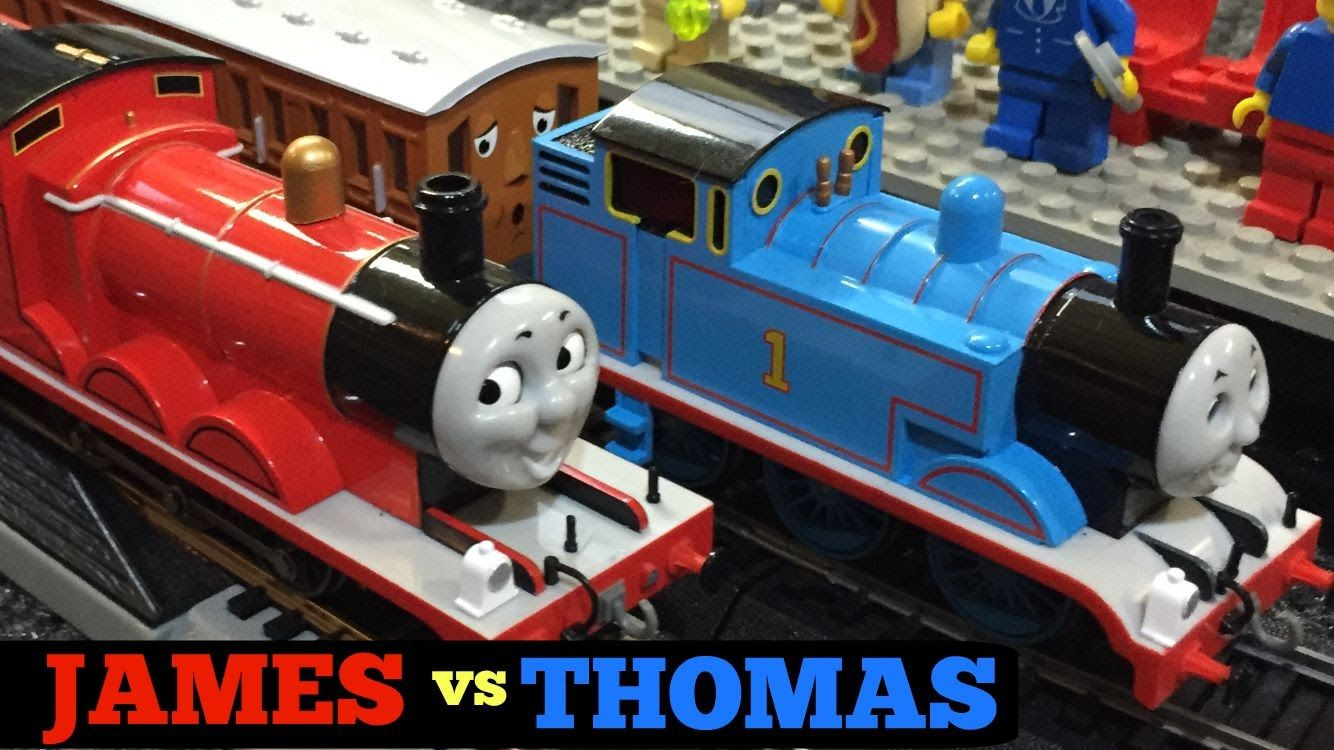 Thomas the Tank Engine vs James the Red Engine Train Race!