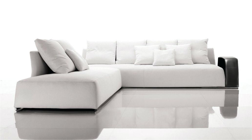 Modern White Couch Mid Century Modern Aniline Leather Sofa