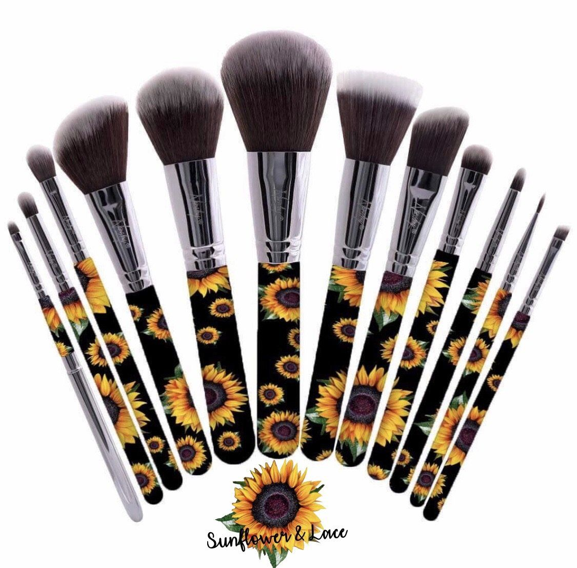 Sunflower make up brush set in 2020 (With images) Makeup