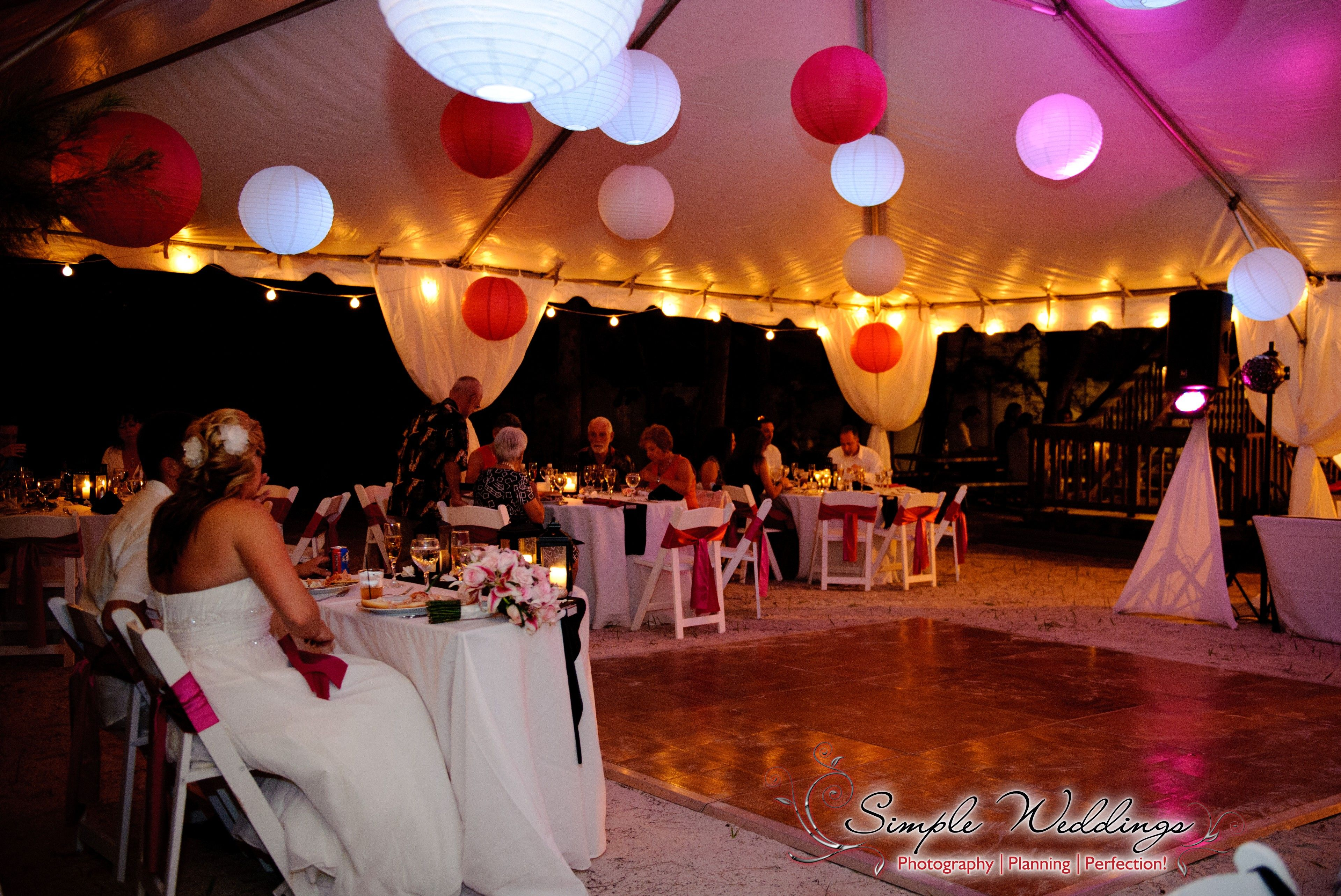 Tented Wedding Reception Behind The Sunset Beach House On Treasure Island FL