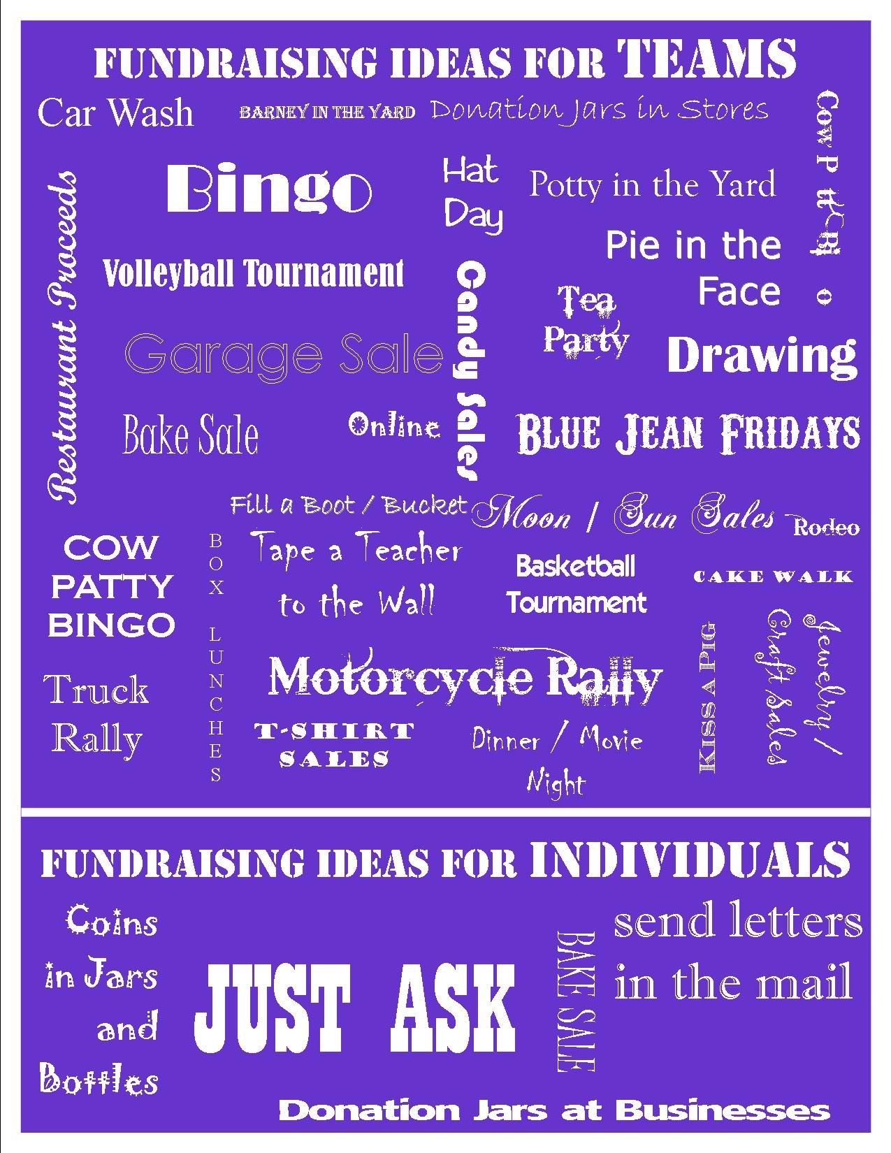 fundraising ideas from kick-off | relay for life | pinterest