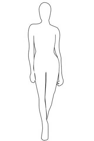 Fashion Model Outline Coloring Pages Fashion Model Sketch Mannequin Drawing Fashion Design Template