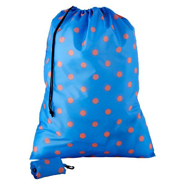 Blue Orange Dot Travel Laundry Bag By Reisenthel Travel