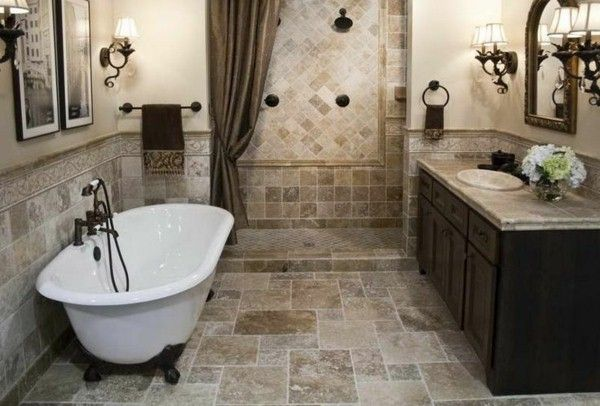 Bathroom tiles natural stone look condo2 Pinterest Natural