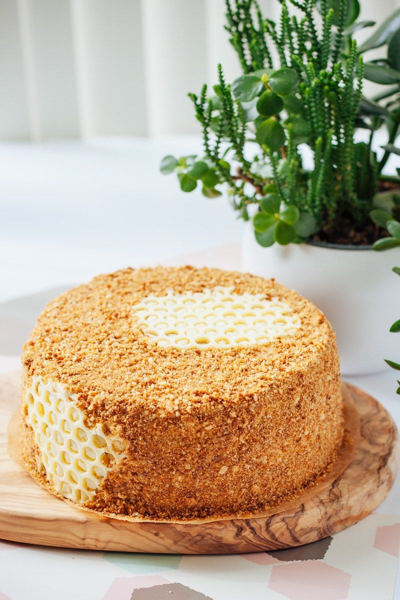 Honey Cake Russian Medovik Bake No Fake Recipe Honey Cake Recipe Honey Cake Russian Honey Cake