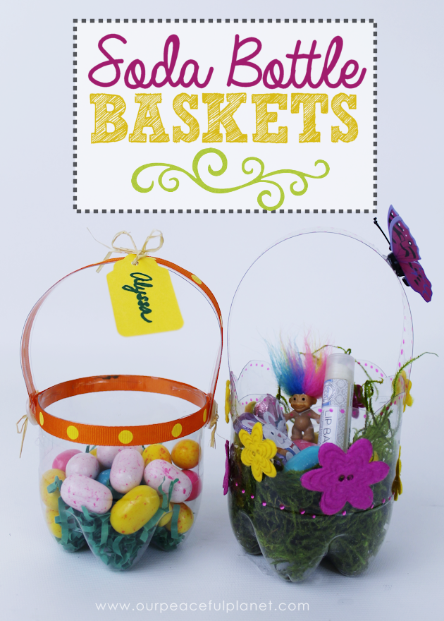 Plastic bottle diy easter baskets soda bottles easter baskets pretty little custom diy easter baskets you can make in minutes using a plastic soda bottle negle Image collections