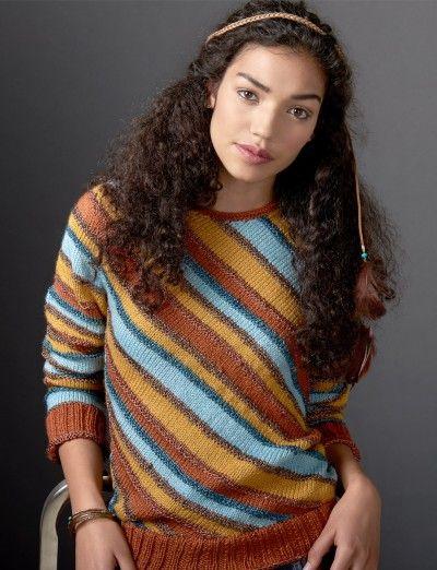 40cc5b70aef26 Diagonal Stripes Sweater - Patterns