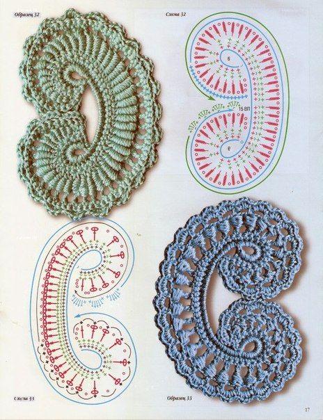 Delicadezas en crochet Gabriela: Patrones gratis : Motivos varios ...