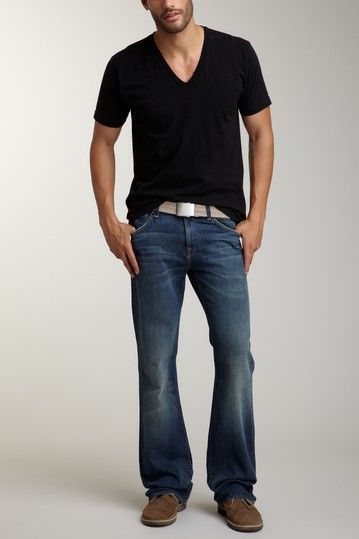 7 For All Mankind Mens Bootcut Jean | Guy Style | Pinterest ...