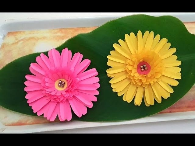 Diy Paper Crafts How To Make Beautiful Daisy Paper Flowers