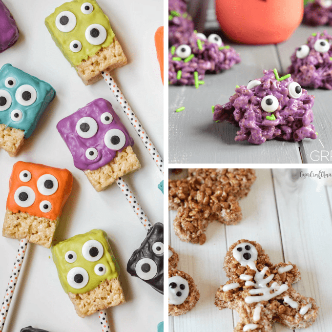 HALLOWEEN RICE KRISPIE TREATS: 15 of the BEST cereal treat ideas #ricekrispiestreats