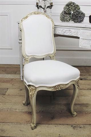 Antique French Carved Vanity Chair Original By FullBloomCottage, $695.00