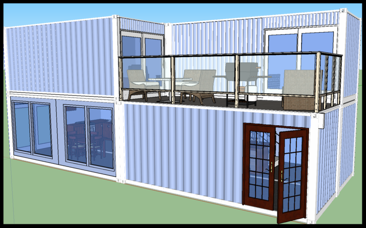 Containerhouse Quadra Container Home Png Container House Container House Design Shipping Container House Plans