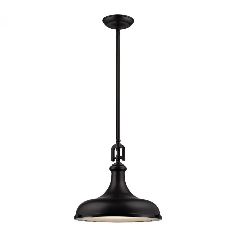 Rutherford 1 Light Pendant In Oil Rubbed Bronze Yde2 Elk Lighting Single Pendant Lighting Pendant Lighting