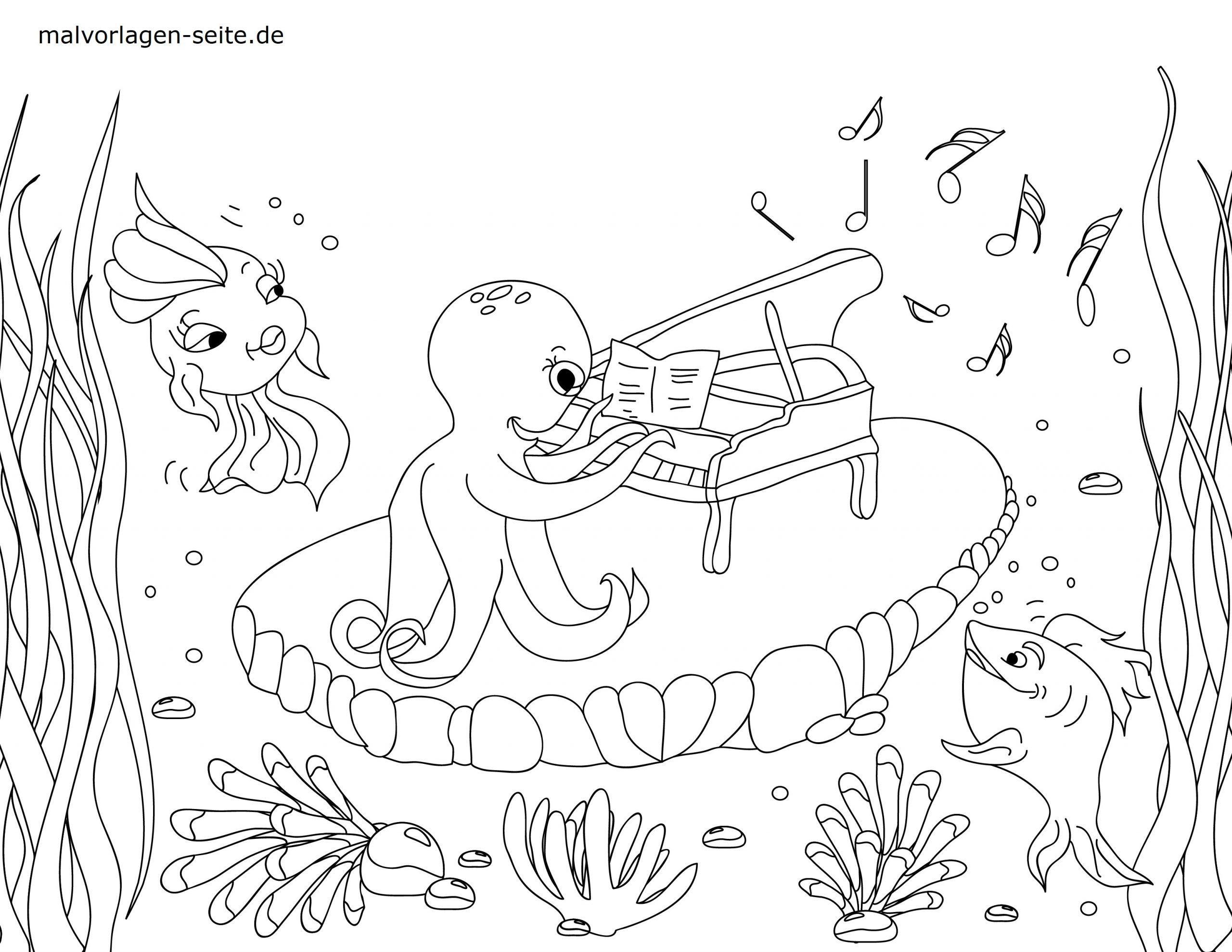 Malvorlagen Unterwassertiere