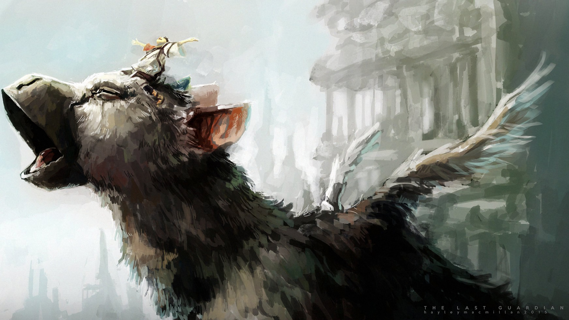 The Last Guardian Trico Wallpaper High Quality Resolution Shadow