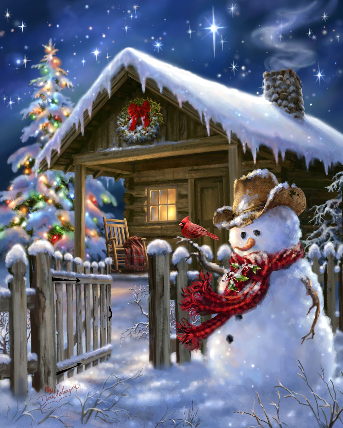Image result for merry christmas cottage images